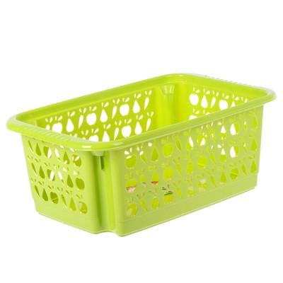Корзина для овощей «Джета», 17 л, 48×30 см, перфорированная, цвет МИКС - Фото 1