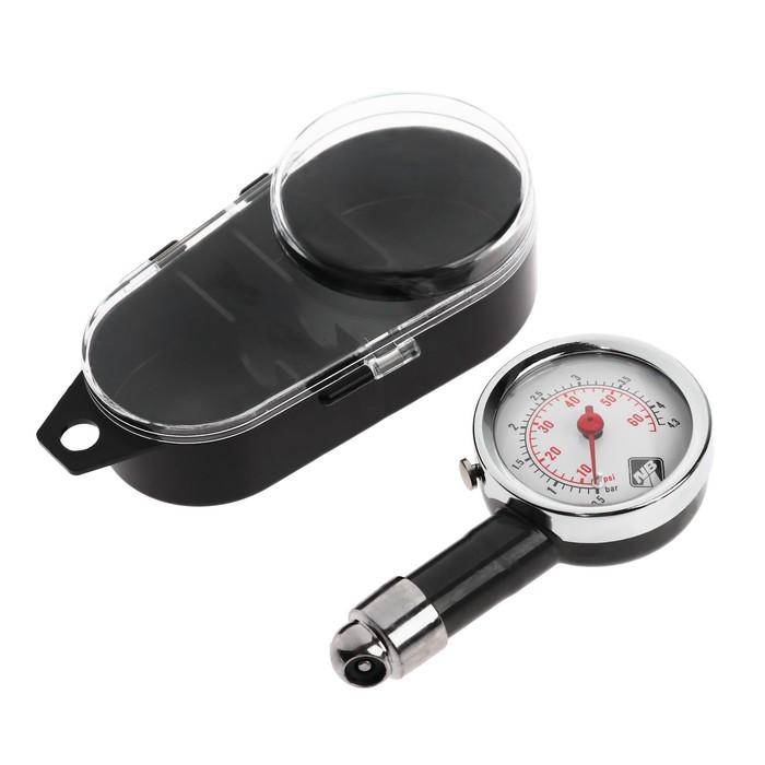 Манометр, металлический, в пластиковом футляре, до 6 атм