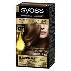 Краска для волос Syoss Oleo Intense, тон 4-60, золотистый каштановый