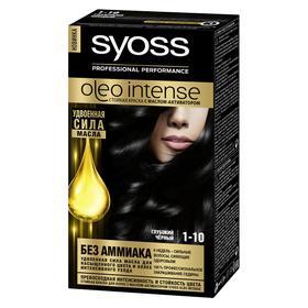 Краска для волос Syoss Oleo Intense, тон 1-10, глубокий чёрный