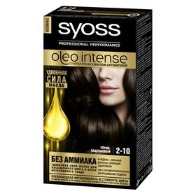Краска для волос Syoss Oleo Intense, тон 2-10, чёрно-каштановый