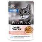 Влажный корм PRO PLAN для домашних кошек, лосось в соусе, пауч, 85 г