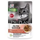 Влажный корм PRO PLAN для стерилизованных кошек, говядина в соусе, пауч, 85 г