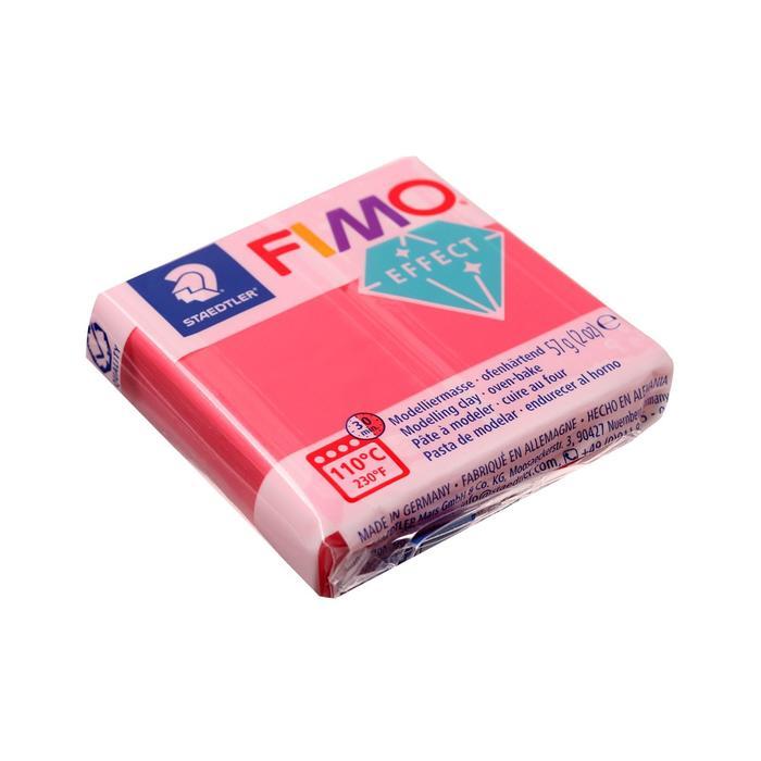 Пластика - полимерная глина FIMO effect, 57 г, полупрозрачный красный