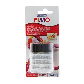 Лак для полимерной глины акриловый, глянцевый, FIMO, на водной основе, 35 мл Ош