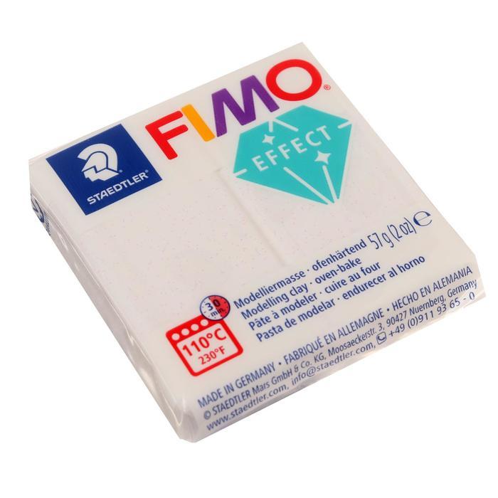 Пластика - полимерная глина FIMO effect, 57 г, белый с блёстками