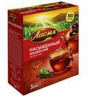 """Чай черный """"Лисма"""", байховый, 100 пакетиков*1,8 г"""