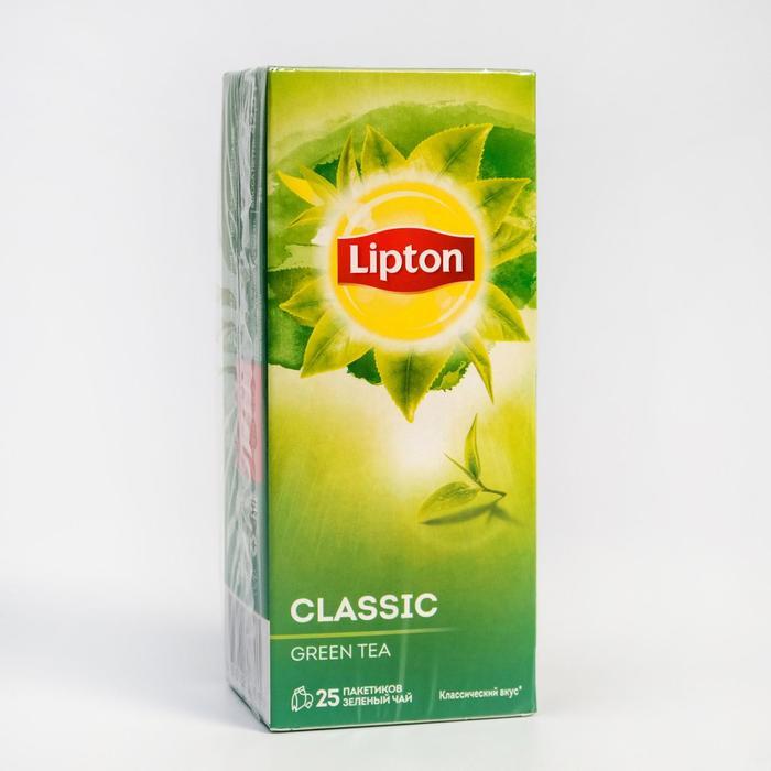 Чай Lipton Classic Green, 25 пакетиков, 42,5 г