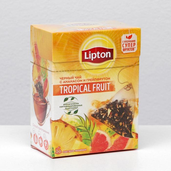 Чай Lipton Tea Tropicl Fruit пирамидки, 36 г