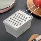 Тёрка плоская с контейнером «Овощная», цвет МИКС - Фото 5