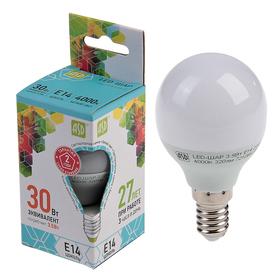 Лампа светодиодная ASD LED-ШАР-standard, Е14, 3.5 Вт, 230 В, 4000 К, 320 Лм