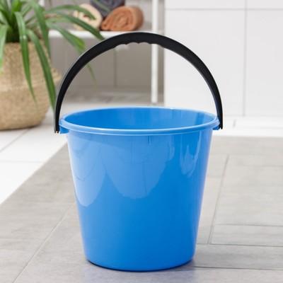Ведро «Примула», 10 л, цвет голубой - Фото 1