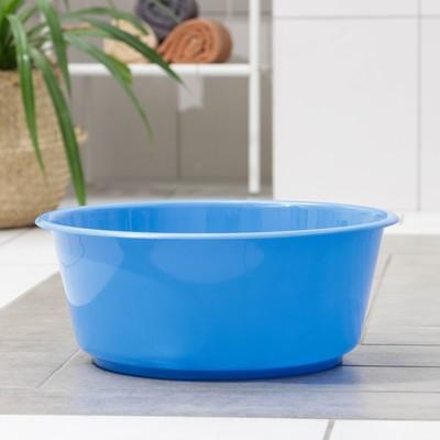 Таз круглый ТД Ангора «Кливия», 10 л, цвет синий