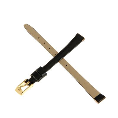 Ремешок для часов, женский, 8 мм, натуральная кожа, чёрный - Фото 1
