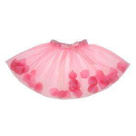 Карнавальная юбка, с лепестками роз, 4-6 лет, цвет светло-розовый Ош