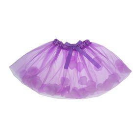 Карнавальная юбка, с лепестками роз, 4-6 лет, цвет фиолетовый Ош