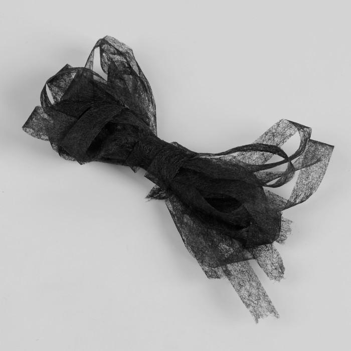 Паутинка клеевая, 10 мм, 3 м, цвет чёрный