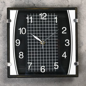 Часы настенные, серия: Классика, 'Матао', чёрные, 23х23 см Ош