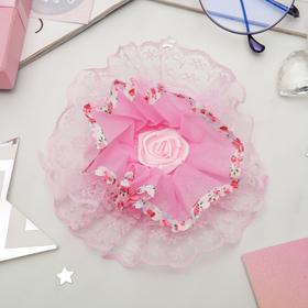 Бант для девочек 'Школьница' розовый Ош