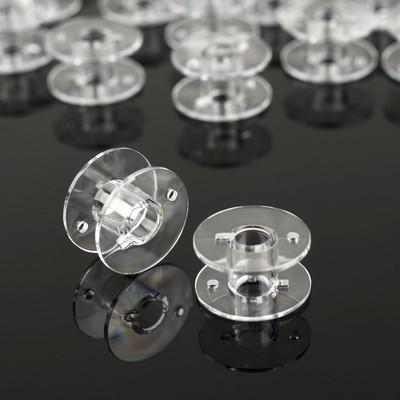 Набор шпулек, d = 20 мм, 24 шт, цвет прозрачный - Фото 1