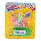 """Резиночки для плетения """"Нежность"""" разноцветные, набор 180 шт., 2 станка, 2 крючка, крепления, 4 шарма, инструкция"""
