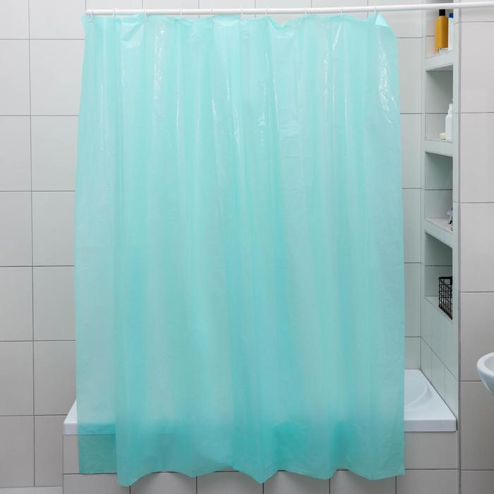 Штора для ванной комнаты, 180180 см, полиэтилен, цвет МИКС