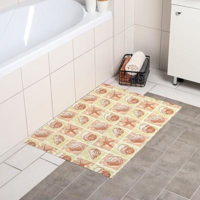 """Коврик для ванной комнаты 65х90 см """"Ассорти"""" цвет МИКС"""